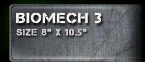 Biomech 3 Airbrush Stencil Template Paint Airsick