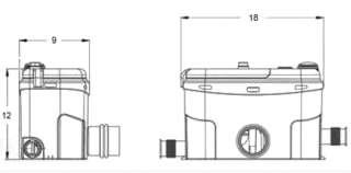 Saniflo Sanigrind Grinder Pump. Water Pump