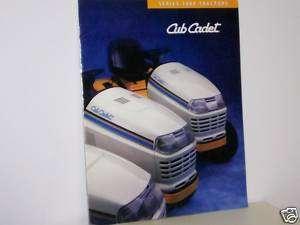 Cub Cadet Lawn Tractor Brochure 2000 Series