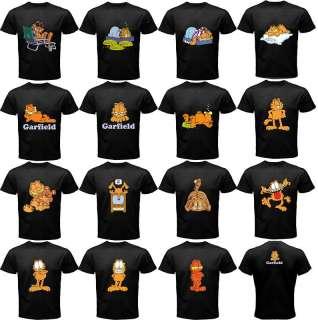 GARFIELD Black Man T Shirt S 3XL *15 ASSORTED DESIGN *