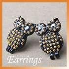 New Fashion Vintage Style Black Eyes Owl Earrings