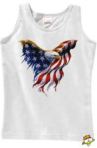 American Flag Eagle Tank Top T Shirt  New*