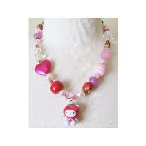 Tarina Tarantino Hello Kitty Pink Head Mascot Necklace