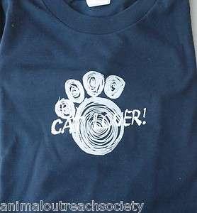 XL XXL NAVY BLUE CAT LOVER TEE SHIRT 100% to ANIMAL OUTREACH HUMANE