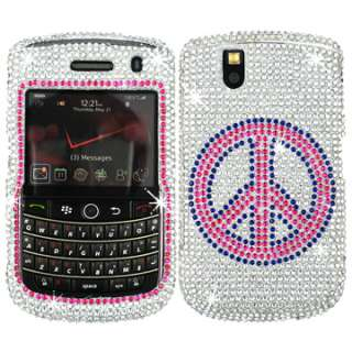 BLING RHINESTONE CASE COVER BLACKBERRY TOUR 9630 BOLD 9650 PINK SILVER