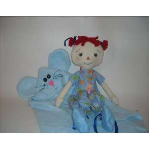 Sewing Pattern Rag Doll Baby Tabatha and her Mouse