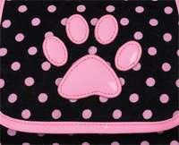 Zack & Zoey ™ Black & Pink Deco Polka Dot Fashion Pet Dog Carrier