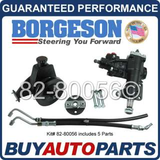 GENUINE BORGESON POWER STEERING CONVERSION KIT 68 70 FORD MUSTANG 6