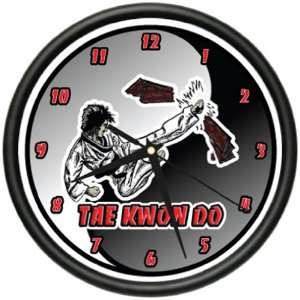 TAE KWON DO Wall Clock martial arts black belt gift:  Home