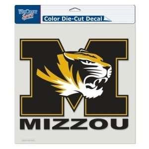 Caseys Distributing 3208580341 Missouri Tigers Die Cut Decal  8 in. x