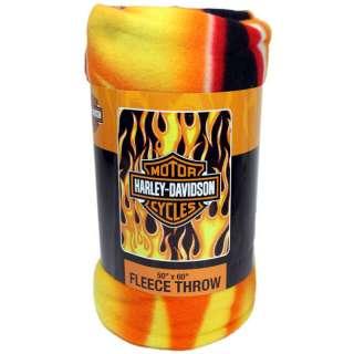 50x60 Harley Davidson FRESH Flames Fleece Blanket Throw