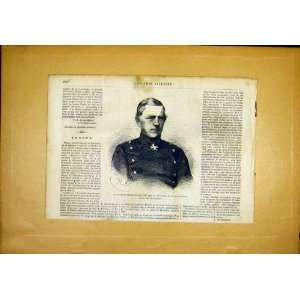 Portrait General Baron Moltke Prussia French Print 1866