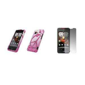 HTC Droid Incredible   Premium Pink and White Peace