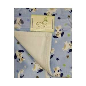 Super Soft Printed Blanket Blue Puppy Baby