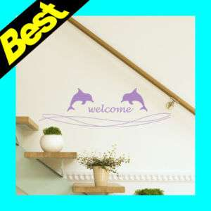 Dolphin Wall Stickers Decals Mural Art Vinyl Home Decor