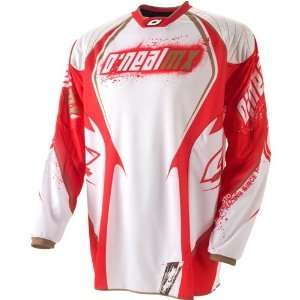 Oneal 09 Hardwear White Red MX Riding Jersey (Size2XL
