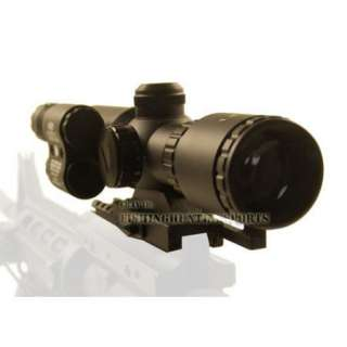 5X32 DUAL ILL. Rifle Scope 5mw Green Laser Sight QD