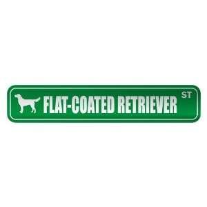 FLAT COATED RETRIEVER ST  STREET SIGN DOG