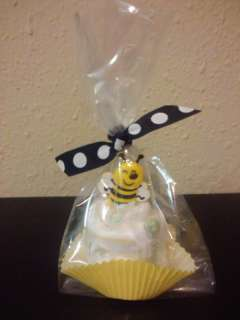 Bumble BEE diaper cupcake baby shower favor/decoration