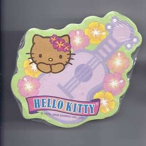 Sanrio Hello Kitty Sticky Notes Hawaii Ukulele Lei