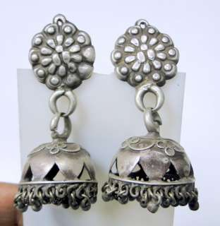 vintage antique ethnic tribal old silver ear plugs earrings belly