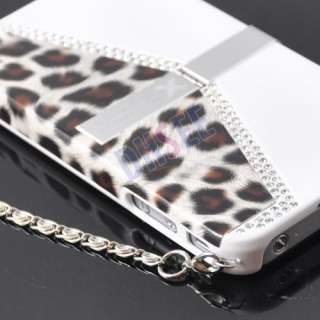 Luxury Leopard Bling Stand Hard Case Cover iPhone 4 4G