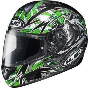CL 16 SLAYER FULL FACE MOTORCYCLE STREET HELMET GREEN XL Automotive