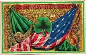 Patriotic St Patricks Day American Flag Irish