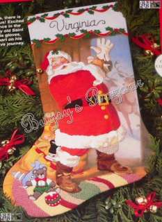 Dimensions SAINT NICHOLAS Crewel Stocking Christmas Kit   Santa