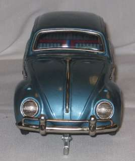 COMBINATION VOLKSWAGON BATTERY OPERATED TIN CAR MIB BLUE C 21
