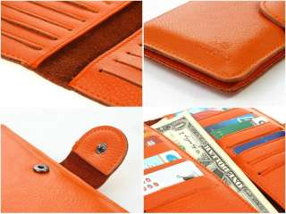 Genuine Leather Clutch Wallet Handmade Business Name Card Purse Bags