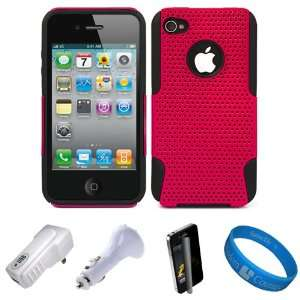 Metallic Hot Pink Dual Protective Hard Case with Black