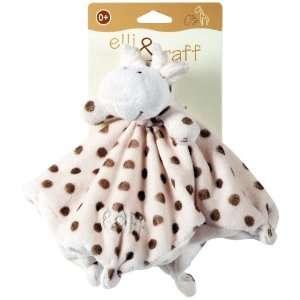 Elli & Raff Giraffe Soft Plush Baby Comfort Blanket 0