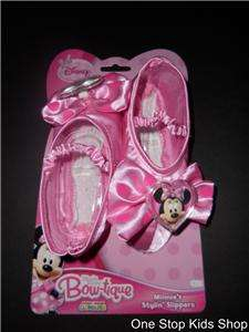 MINNIE MOUSE Disney Costume DRESS UP Shoes SLIPPERS