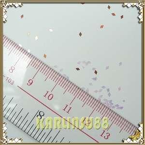 12 Color DIAMOND Shape RHOMBUS Glitter Spangle Nail Art
