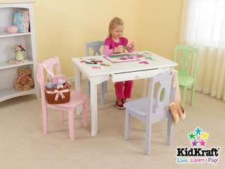 KidKraft Brighton Kids White Wood Craft & Dining Table 706943267011