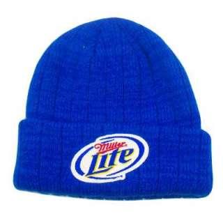 MILLER LITE CERVEZA BEER BLUE BEANIE SKULLY KNIT HAT