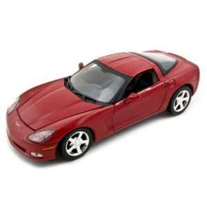2005 Chevrolet C6 Diecast Car Model 1/24 Coupe Red