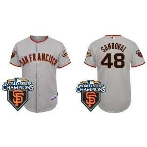 San Francisco Giants #48 Pablo Sandoval Grey 2011 MLB