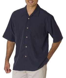 Cubavera Mens Shadow Box Camp Shirt Charlie Sheen C5402