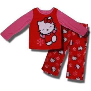 Hello Kitty Snowflakes 2 Piece Fleece Pajamas For Girls