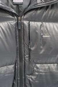 NWT $250 Nike Lava Flow 800 Black Mens Down Hooded Jacket Sz XXL