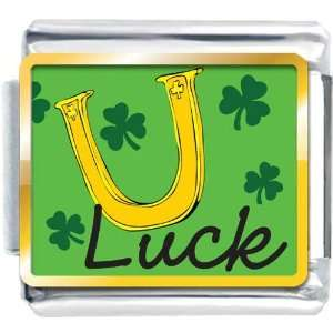 Italian Charm Plated St Patricks Day Theme Luck Photo With Shamrock