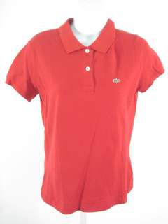 LACOSTE Red Cotton Polo Shirt Top Sz 42