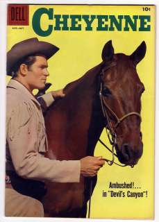 CHEYENNE # 8 Comic CLINT WALKER Dell WESTERN 1958 VF NM