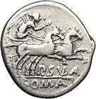 Roman Republic 96BC APOLLO ROMA Ancient Silver Coin