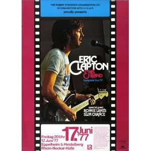 Eric Clapton   Slowhand 1977   CONCERT   POSTER from