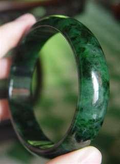 Certified Natural A Grade Jadeite Green Jade Bangle