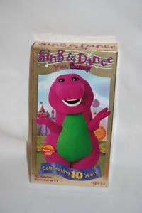 Barney   Sing and Dance With Barney (VHS, 1999) 045986020307