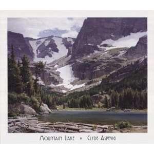 Clyde Aspevig Mountain Lake 31x27 Poster Print: Home